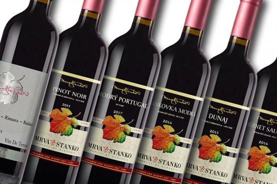 Degustačný set červených vín Mrva & Stanko