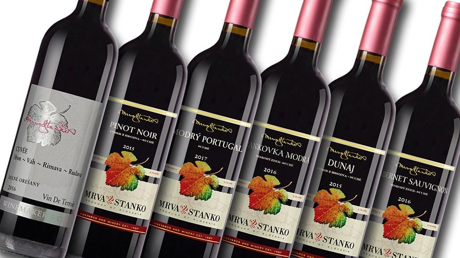 Degustačný set červených vín Mrva & Stanko (vypredané)