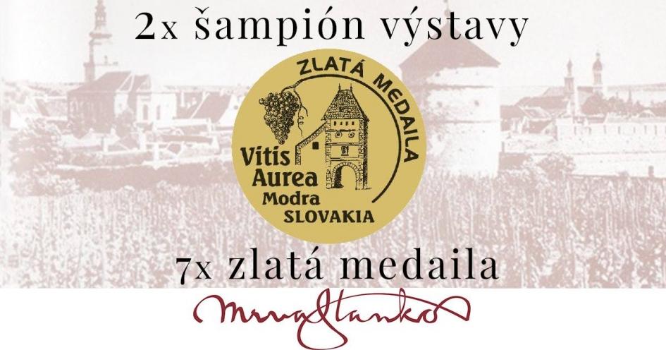 2 tituly šampióna a 7 zlatých medailí na Vitis Aurea Modra 2019