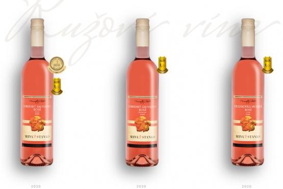 Ružoví šampióni Národného salónu vín 2021 sú z dielne  MRVA & STANKO