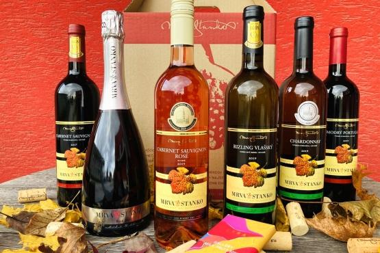 Vianočné balíčky vín MRVA & STANKO s čokoládou LYRA 2020